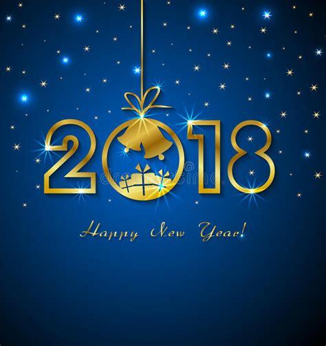 clipart buon anno buon anno 2018 con i numeri dorati illustrazione