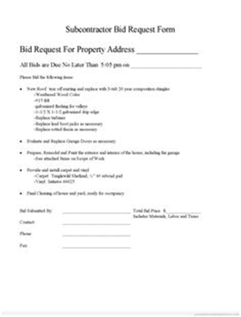 Subcontractor Agreement Template Sle Form Biztree Com Subcontractor Agreement Form Subcontractor Invitation To Bid Template