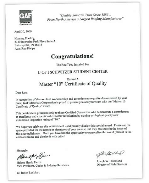 certification letter for business roof certification letter best free home design idea
