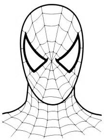 spiderman eyes colouring pages