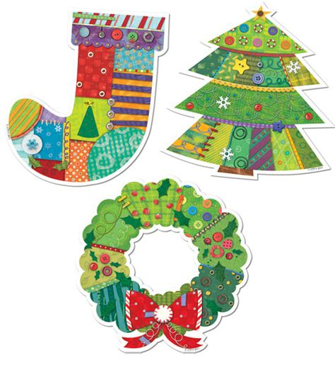 christmas decorations cutouts free classroom display cut out cards 12 jumbo size design cut outs free delivery