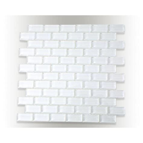 splashback tile contempo bright white polished 12 in x 12 in x 8 mm glass mosaic floor and