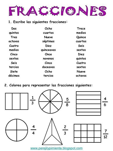 ejercicios de fracciones de cuarto de primaria 1 escribe las siguientes fracciones dos ocho trece