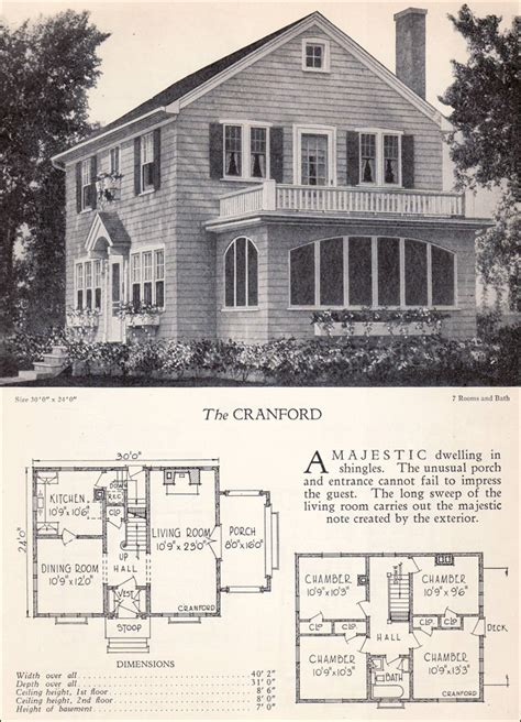 Colonial Revival House Plans by Traditional 1928 Colonial Revival House Plan The