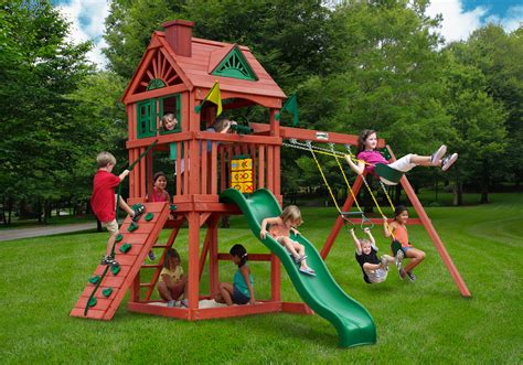 gorilla wooden swing sets lowest price gorilla nantucket playset free shipping
