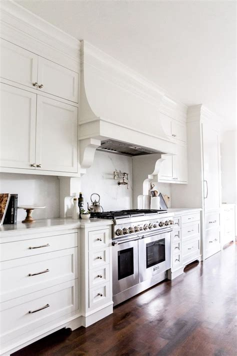 french white kitchen cabinets the hood simple with an added curve to soften all of the