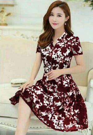 Baju Pesta Ala Korea model baju mini dress brukat pendek wanita cantik terbaru desain pesta ala korea