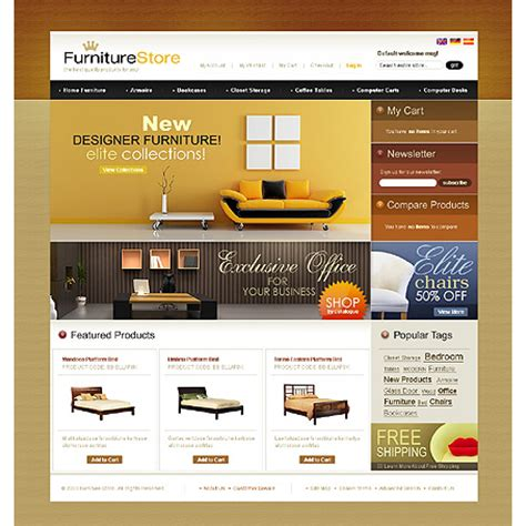 furniture store web template wordpress theme and templates