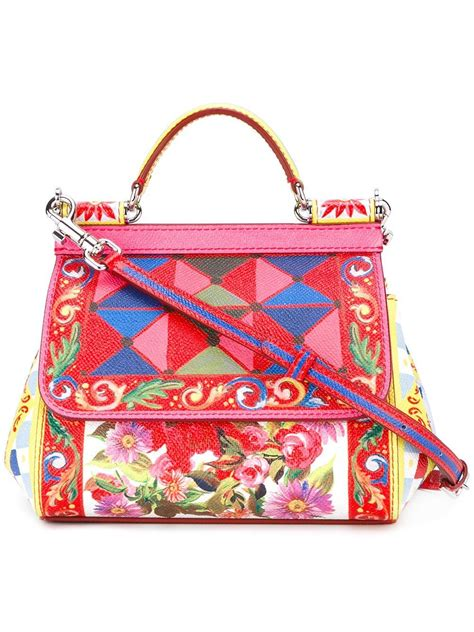 Dg Dolce And Gabbana Ocelot Print Tote by Dolce Gabbana Small Sicily Mambo Print Tote In Lyst