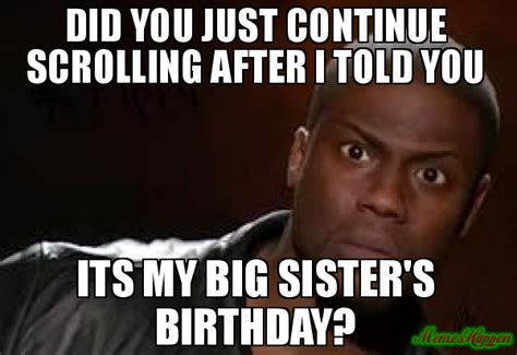 Birthday Sister Meme - 20 best birthday memes for your sister sayingimages com
