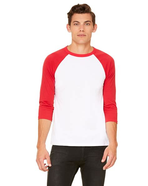 canvas unisex 3 4 sleeve raglan baseball t shirt
