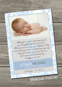 baptism thank you card christening thank you card digital