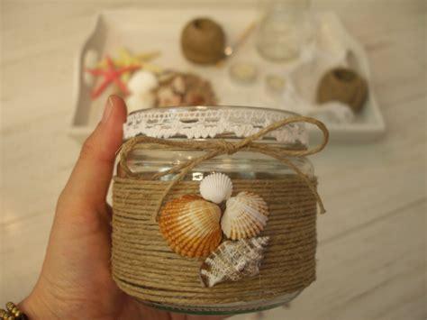 31 propuestas para decorar con botellas y tarros de search adornar un tarro de cristal con motivos marinos de jm qj