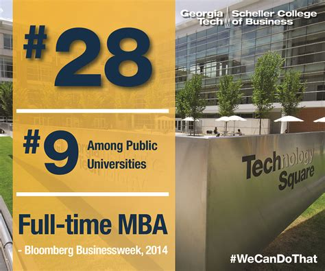 Gatech Mba Admissions by Tech S Mba Ranked In Bloomberg Businessweek S Top