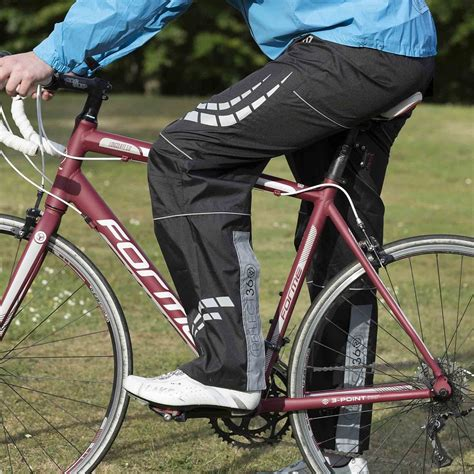 mens cycling waterproofs reflect360 s waterproof cycling overtrousers