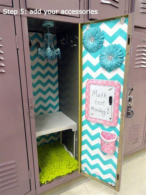simple steps  decorating  fabulous locker  locker