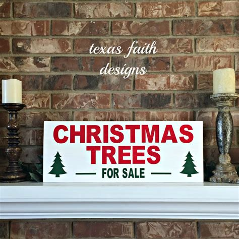 christmas trees for sale wood sign christmas sign