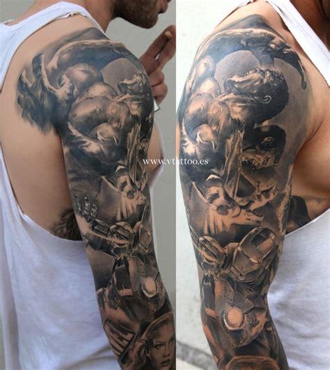 superhero tattoo sleeve 17 best ideas about marvel tattoos on marvel