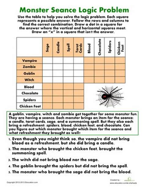 printable logic puzzles 6th grade free 6th grade logic puzzles worksheets printable math