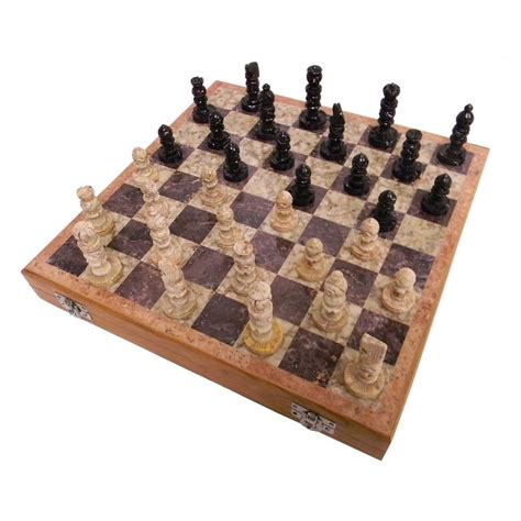 wooden chess set marble pieces from india 20 32 cm amazon soapstone chess set 12x12 india