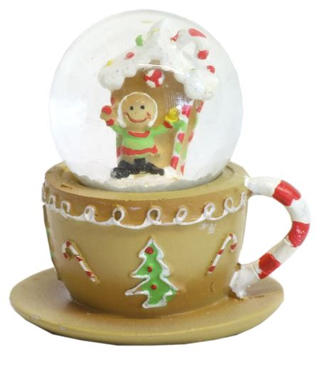 gisela graham christmas snow globe gingerbread house 30292
