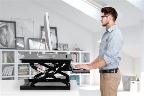 Kogan Height Adjustable Standing Desk Riser Small Black Where To Buy Standing Desk