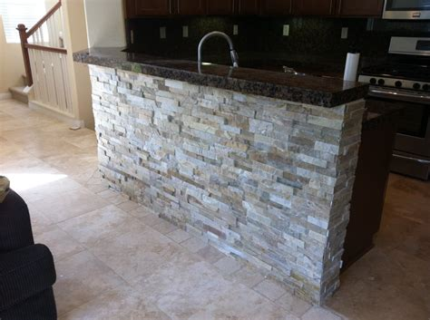 tile bar top stone veneer under bar top yelp