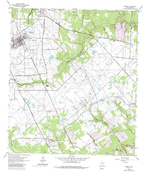 tomball texas map tomball topographic map tx usgs topo 30095a5
