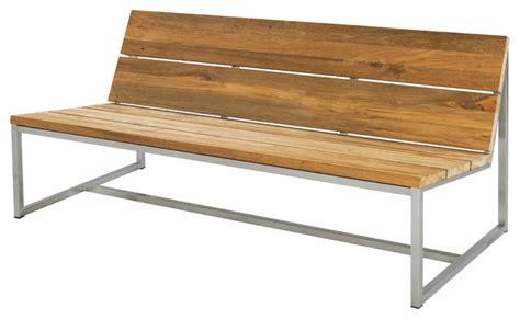 modern garden benches oko casual bench 59 quot contemporary garden benches by