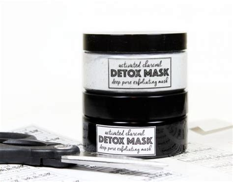 White Charcoal Detox Mask Label by Activated Charcoal Detox Mask Recipe With Free Printable