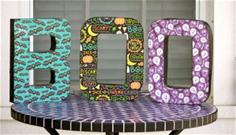 What Do You Need For Decoupage - desperate craftwives decoupage boo letters