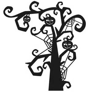 spooky tree svg scrapbook title svg cutting files