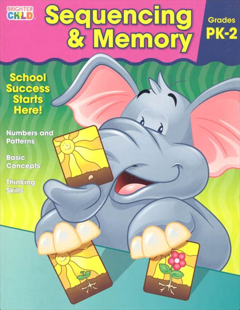 sequencing brighter child flash sequencing memory prekindergarten workbook brighter child 059454 details rainbow