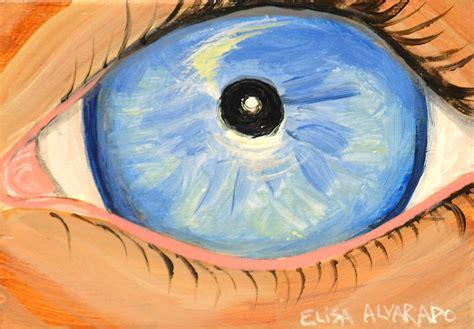 acrylic paint eye blue eye painting miniature acrylic eye painting by