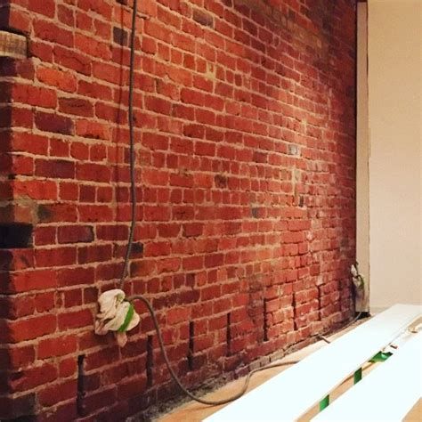 Sealant For Interior Brick Walls by Exposing Cleaning A 100 Year Brick Wall Hometalk