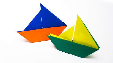 Origami Sailing Boat - การพ บกระดาษเป นร ปเร อใบ origami sail boat