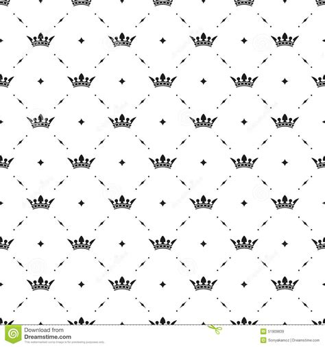 king pattern vector seamless vector black pattern with king crowns stock