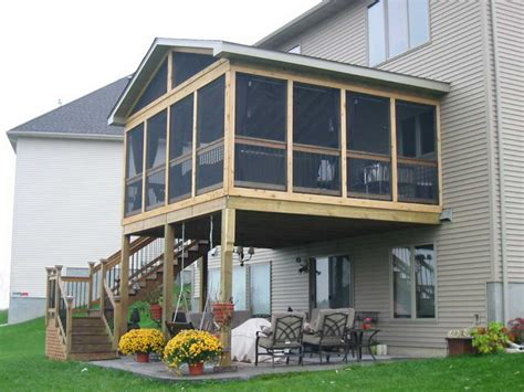 miscellaneous screened in porch cost deck cost estimator