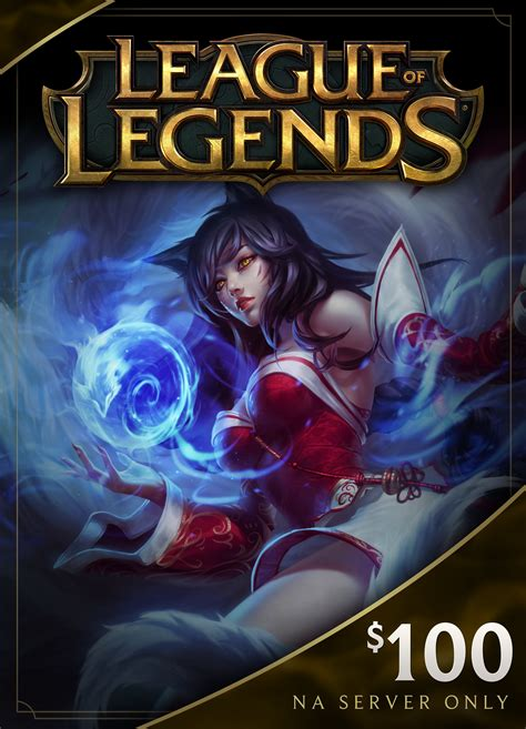 League Gift Cards - league of legends 100 gift card 15000 riot points na server only online game code