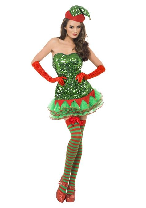 women s elf sequin costume
