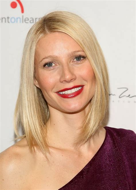 long bob hairstyles gwyneth paltrow gwyneth paltrow hairstyles celebrity latest hairstyles 2016