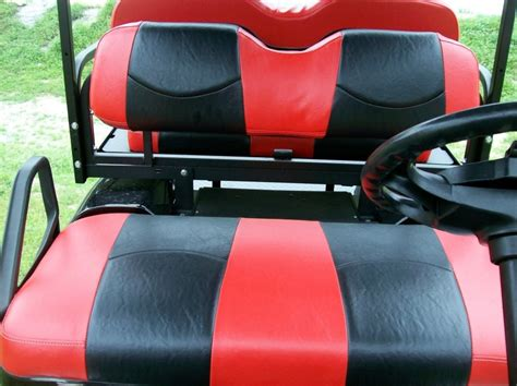 Golf Cart Upholstery Seats by Daredevil And Black Striped Deluxe 226 162 Golf Cart Seat
