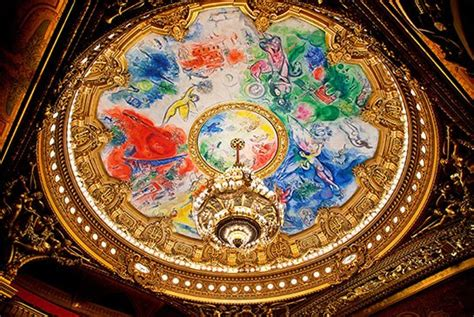 Chagall Ceiling by Chagall S Op 233 Ra Garnier Ceiling Celebrates 50 Years Architectural Digest