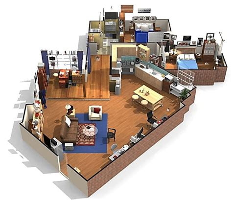 layout of big bang theory apartment the big bang theory apartment in 3d sheldon and leonard s