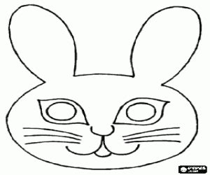 bunny mask coloring pages rabbit mask coloring page picture to pin on pinterest