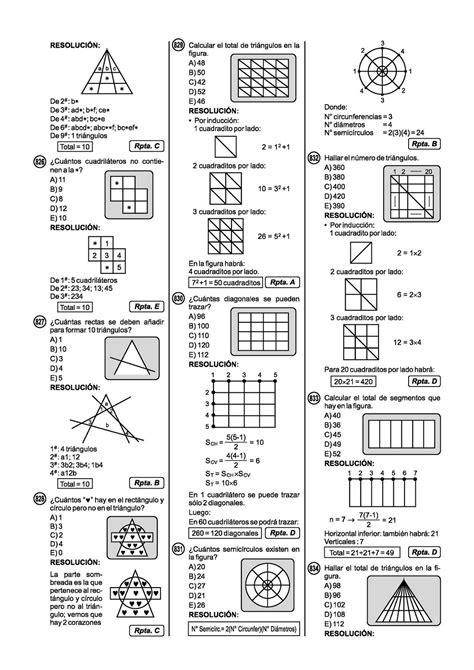 preguntas de logica matematica para universitarios ejercicios resueltos de conteo de figuras razonamiento