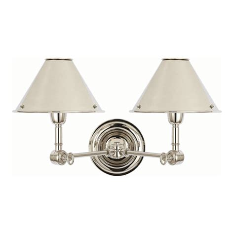 Sconce Backplate Anette Double Sconce In Polished Nickel Lighting