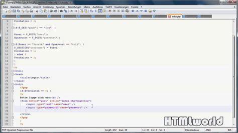 tutorial php session php tutorial login per php session erstellen deutsch