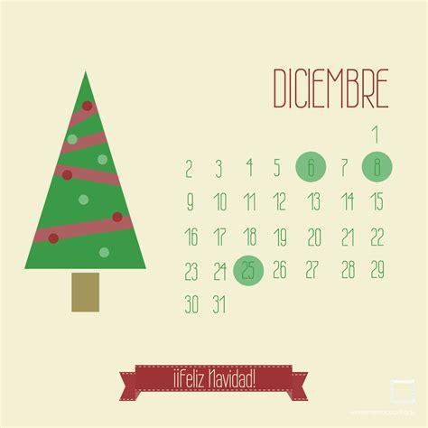 Calendario De Diciembre Calendarios Descargables Diciembre Enmimetrocuadrado