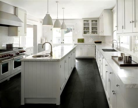white kitchens with floors black slate kitchen floor design ideas